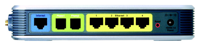Back panel of lynksys wrp200
